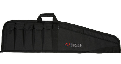 "43"" Contoured Modern Sporting Rifle (MSR)-AR/AK-style carrying cases with 5 external magazine holders"