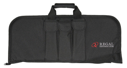 "29"" Rectangular Modern Sporting Rifle (MSR)/AR/AK-style carrying cases with 3 external magazine holders"