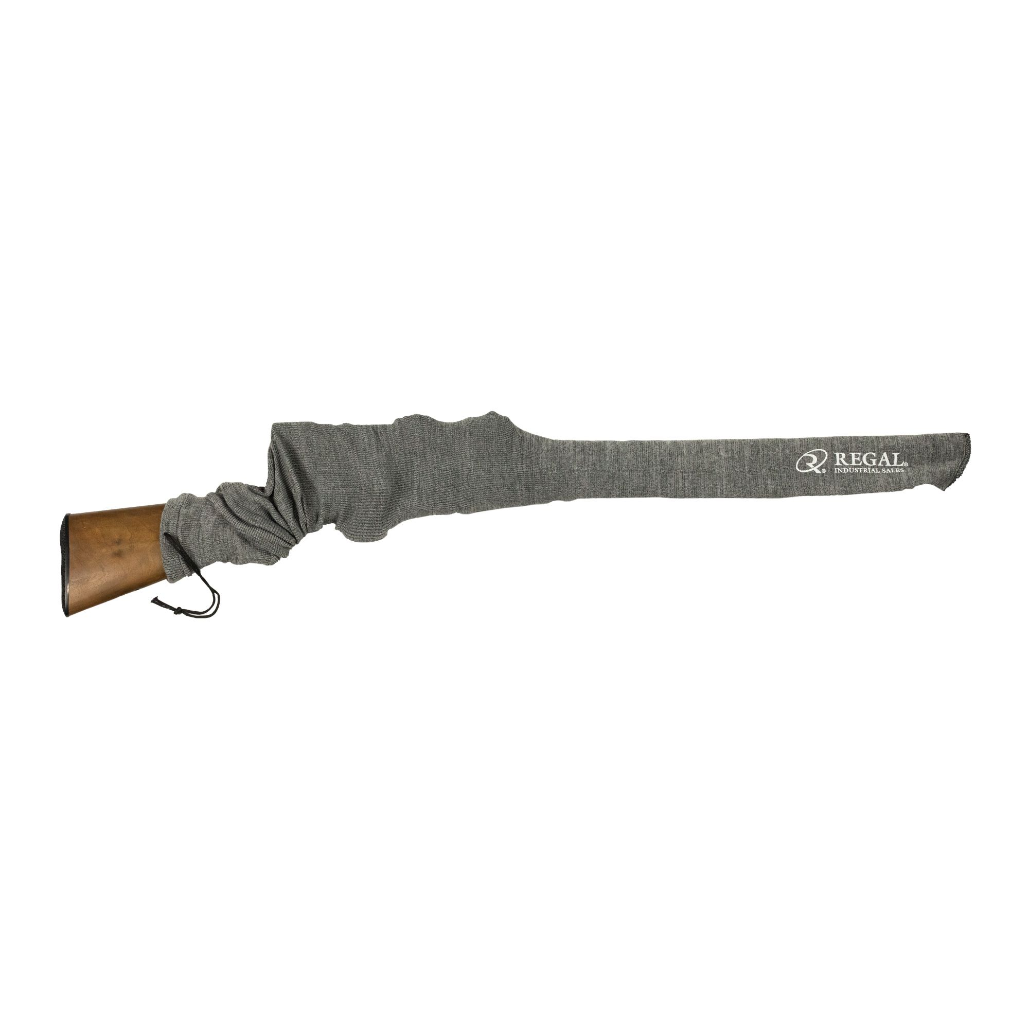 Rifle Sock Gray on gun 1